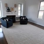 Washable Cleaning Soft Jute Rugs In Living Room With Armchairs