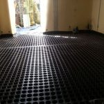 waterproofing basement for floor with black membrane and wall waterproofing for home interior