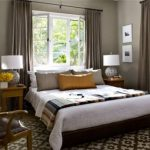 Wonderful Cool Nice Amazing Elegant Bedroom In Earth Tones With Grey Concept Dark Carpeting Design For Small Bedroom