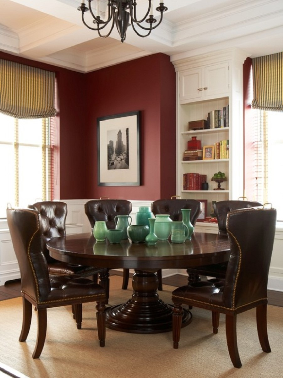 wonderful dining room design with majestic royal cowhide chairs design