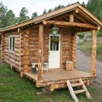wonderful-nice-coolest-spectacular-small-log-cabin-ideas-with-rustic-wood-outdoor-paneling-for-walls-and-small-front-door-entry-with-small-ladder