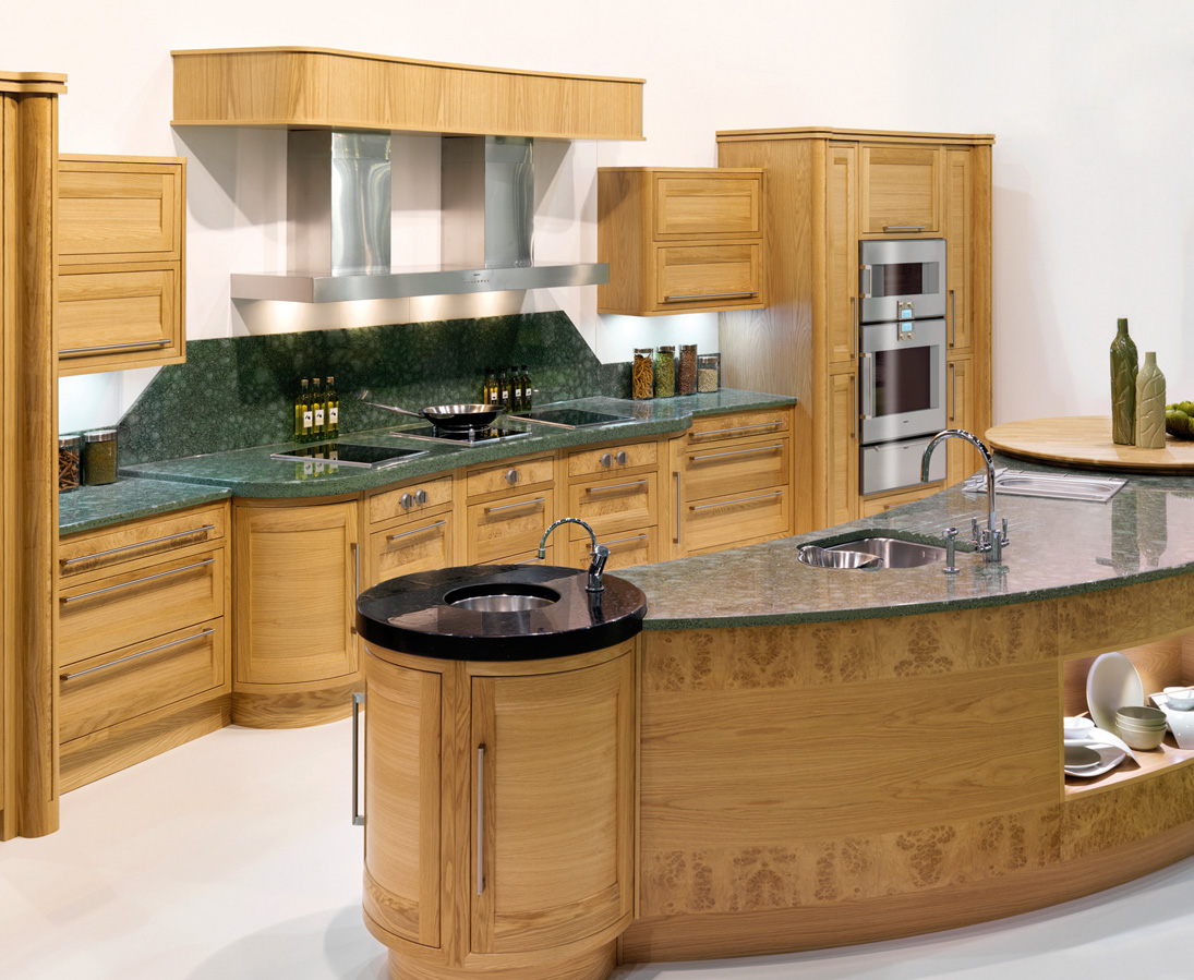 Unusual Countertops The Curved Kitchen Island The Great Combinations Between