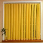 yellow vertical blinds for glass window