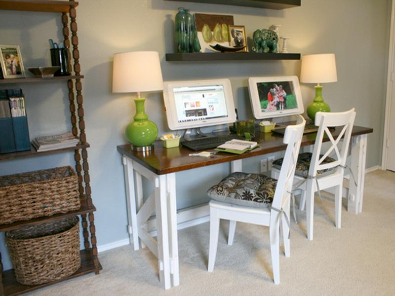 Home Office Ideas with 2 Desks