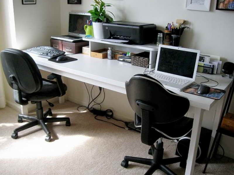 home office desk ikea. 2 Person Desk Ikea For Home Office With White And Swift Chairs Plus Laptops D