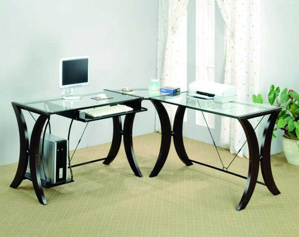 2 person desk ikea with glass top and curved solid wood legs and keyboard  drawers and. Rousing and Smart Home office Ideas with 2 Person Desk at IKEA