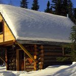 An off grid log cabin
