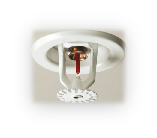 ceiling attached sprinkler head for protecting the room from fires - Home Fire Sprinkler System Design