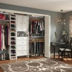 Classic closet organizer idea made by using closet design software