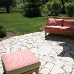 Fond du lac stones for patio floors single sofa in red plus pillow and a red ottoman chair