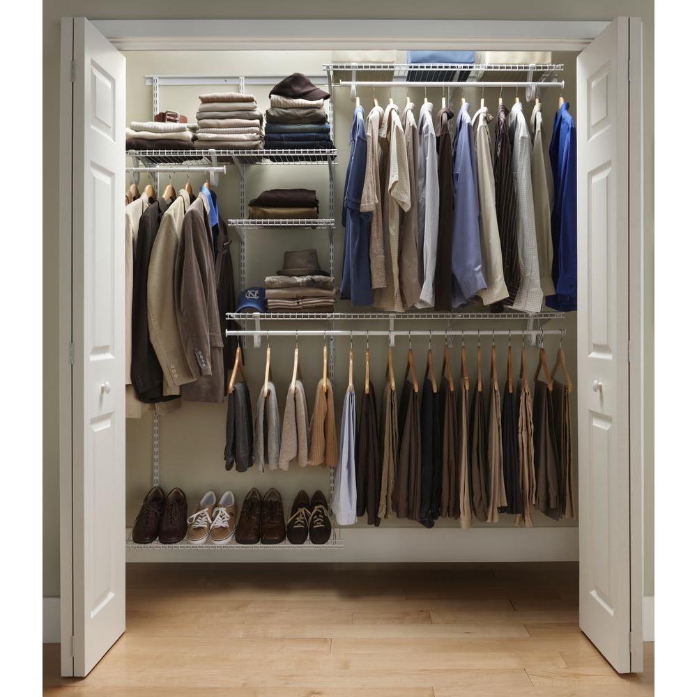 garment and shoes racks design resulted by virtual closet design tool - Home Depot Closet Design Tool