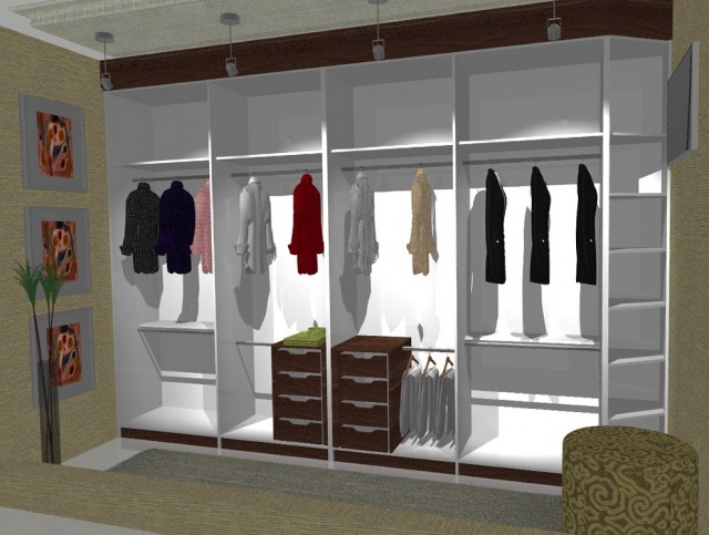 minimalist garment racks created by using virtual designer - Closet Design Home Depot