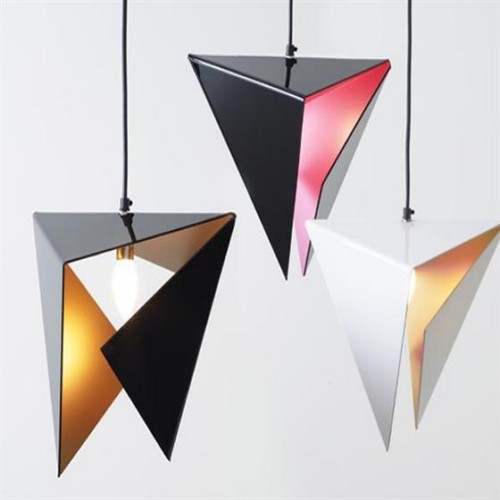 Elegant Modern Pendant Lamps In Multi Colors And Triangle Shape