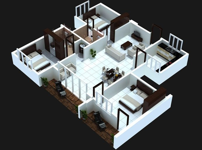 Simple House Floor Plans 3d duplex home plans and designs | homesfeed