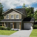 Small and simple home plan with  garage for simple family