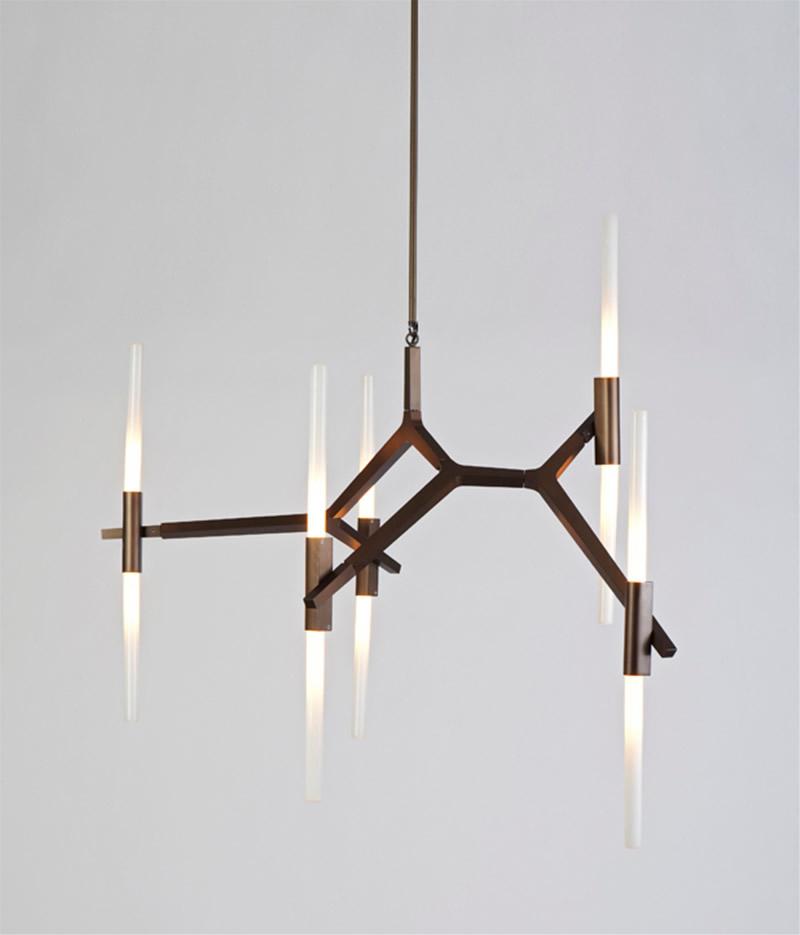 designer lighting. sophisticated pendant lamp in brown designer lighting