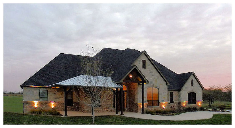Texas hill country home design homesfeed for Hill country home plans