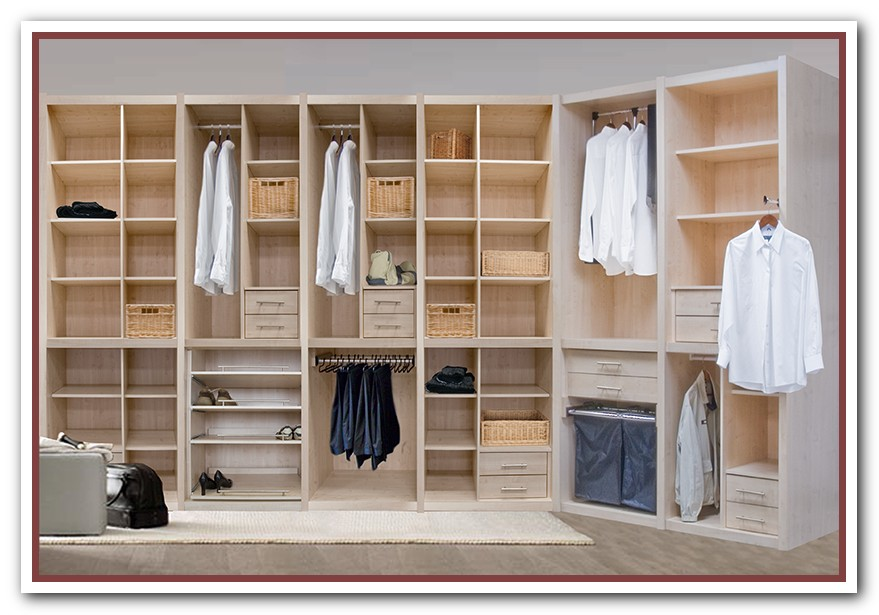 Wooden Closet Organizer With Multiple Racks For Garments Shoes And Bag  Collections Resulted By Using Online