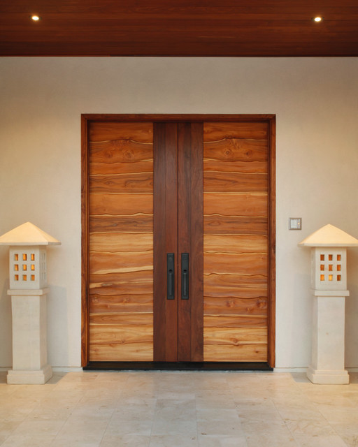 Interior door designs for homes homesfeed for Modern front double door designs
