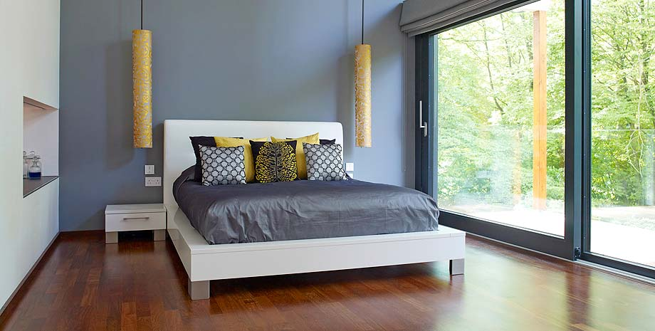 efficient furniture. A Bedroom With Large Sliding Glass Door In Low Energy Home Bed Furniture Efficient