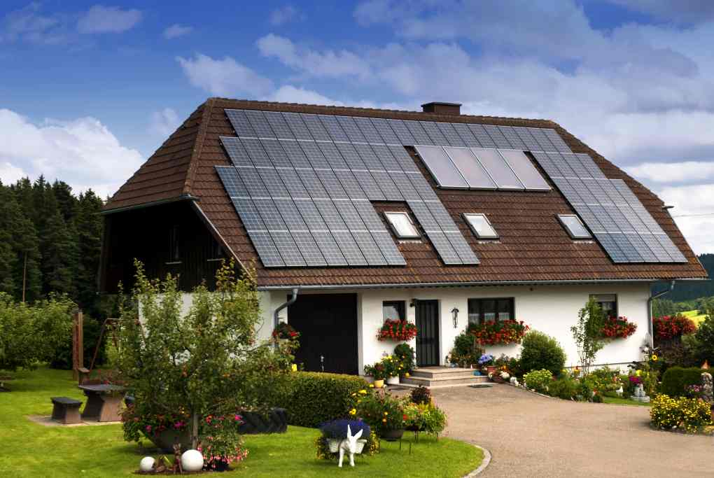 most energy efficient home design. a construction for private house with lot of solar panels on roof as the Best Designs Energy Efficient Home  HomesFeed
