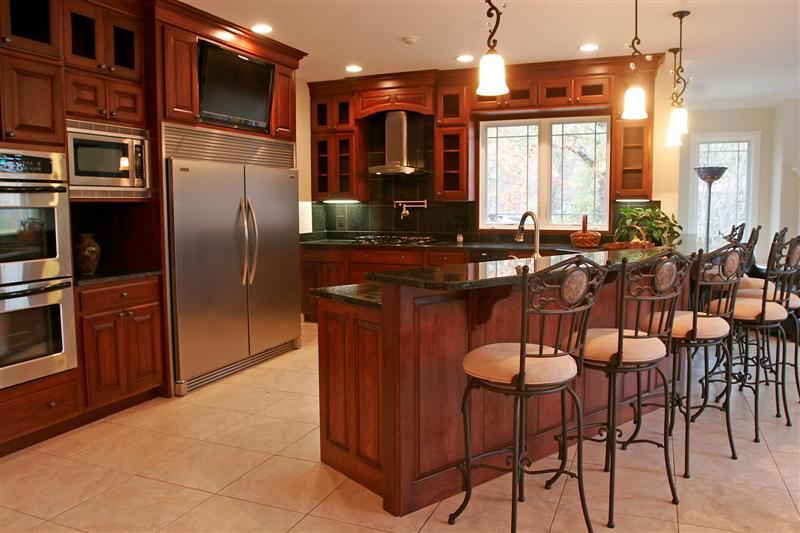 A Modern Kitchen Plan Presented Black Marble Kitchen Countertop Black  Ceramic Tiles For Backsplash An Arrangement
