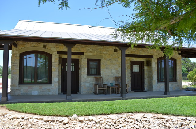 Ranch home designs with porches homesfeed for Concrete house texas