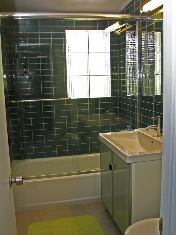 adorable black tile bathroom design with walk in shower and adorable white small mid century modern - Midcentury Bathroom 2015