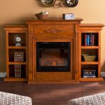 adorable wooden fireplace mantel with wooden built in bookshelves with wall decoration with wooden floor with patterned sofa design