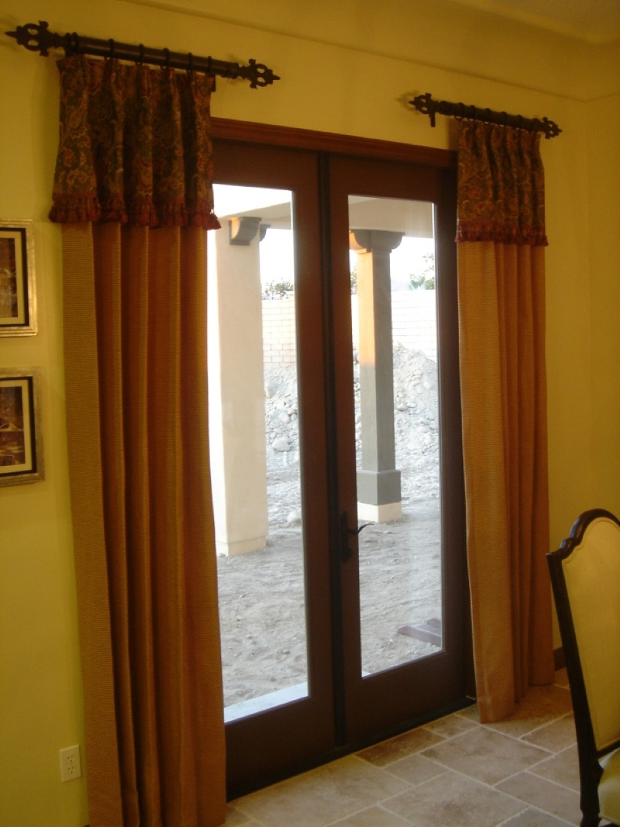 Window Treatments Metal Doors Choose The Right Window Treatment To Make Your French Door Looks