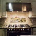 amazing cooktop idea on black marble countertop design upon drawers with groutlessbacksplash beneath smokestack with scenery
