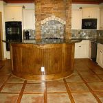 amazing-cool-classic-nice-Best-Floor-Idea-for-Kitchen-with-great-granite-wooden-tiles-look-and-has-round-table-with-glass-concept