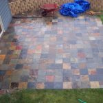 Amazing Cool Creative Awesome Outdoor Flooring Over Concrete With Small Colorful Tile Design For Slate Patio