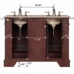 amazing-cool-great-adorable-classic-double-sink-vanity-with-wooden-frame-and-classic-spigot-design-for-small-bathroom