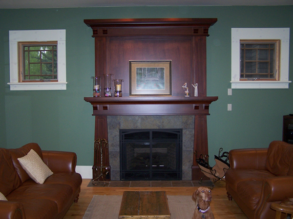 Creative craftsman fireplace design homesfeed for Craftsman fireplaces photos