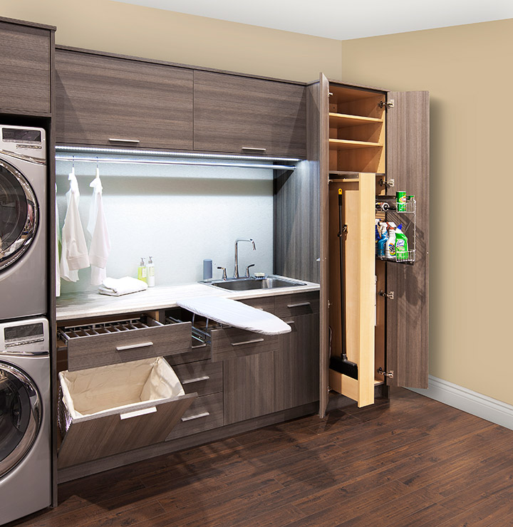 Broom Closet Cabinet Plans: Ironing Board Storage Cabinet: A Simple Solution To