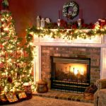 amazing fireplace christmas decorations for mantels with awesome christmast tree beautified with string light and garland plus flower and wreath