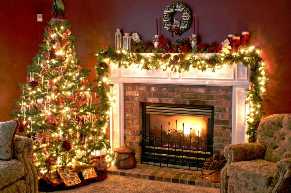 amazing fireplace christmas decorations for mantels with awesome christmast tree beautified with string light and garland
