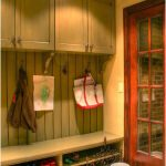 Amazing Practical Mudroom Design With Wood Made Concept And Has Nice Simple Shoes Case Under The Seat