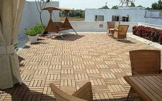 amazinng-cool-pergola-nice-outdoor-flooring-over-concrete-exterior-flooring-ideas-with-little-tile-design-with-wooden-furniture