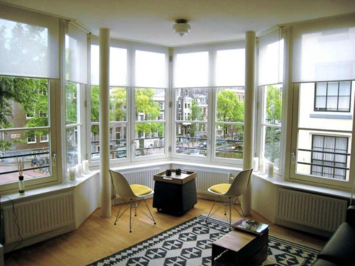How to decorate your large bay window with low budget for Arched bay windows