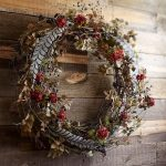 autumn season berry pottery barn wreaths with dried twigs and leaf