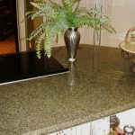 Awesome Cool Nice Great Silversea Green Granite Countertops With Grey Concept And Plant Decoration