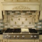 Contemporary Stove Kitchen Backsplash Designs Small Glazed Pots
