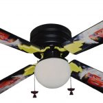battery operated ceiling fan in disney mcqueen with lamp for kid bedroom