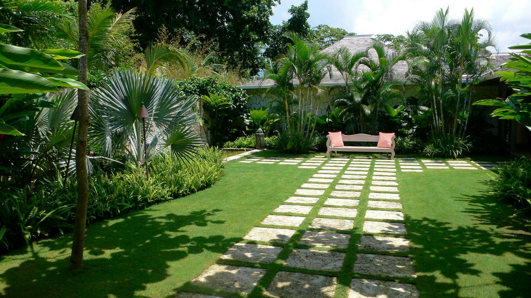 Beautiful Landscape Designed By Better Homes And Gardens With Tidy And  Organized Paths And Single Furniture