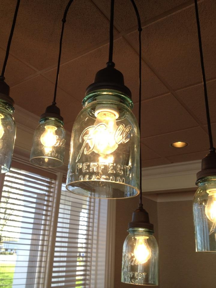 Beautiful Lighting Ideas With Mason Jar Fixtures For Warm And Inviting Home Decoration