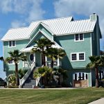 beautiful ocean blue tone color home exterior design in Key West style
