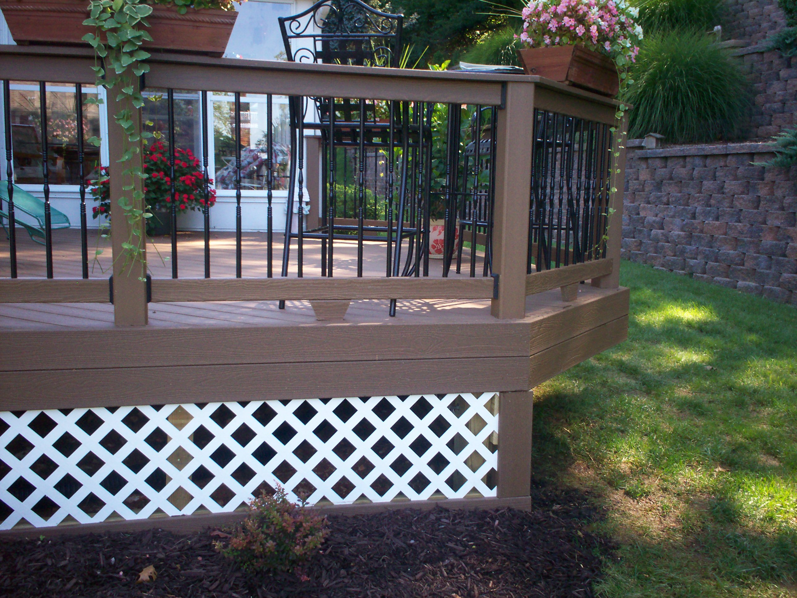 Beautiful porch skirting that you have to apply before for Outdoor lattice