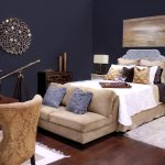 Bedroom Design With Medium Size Bed Furniture With Light Purple Headboard Small White Fury Rug A Wood Desk And Chair A Satin Rug A Pair Of Table Lamp Twin Bedside Table In White